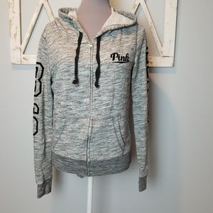 {VS Pink} full zip hooded jacket (small)